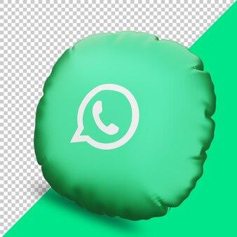 Icône de rendu 3d whatsapp avec oreiller