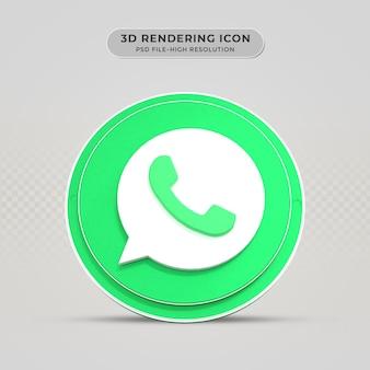 Icône de rendu 3d whatsapp