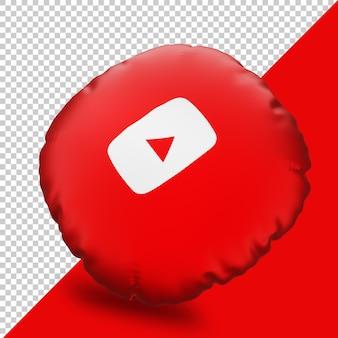 Icône de rendu 3d youtube