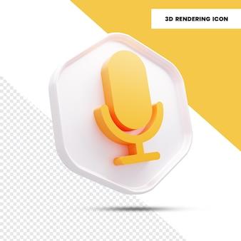 Icône de rendu micro 3d