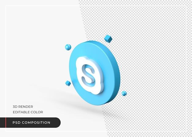 Icône de rendu réaliste de l'application 3d skype