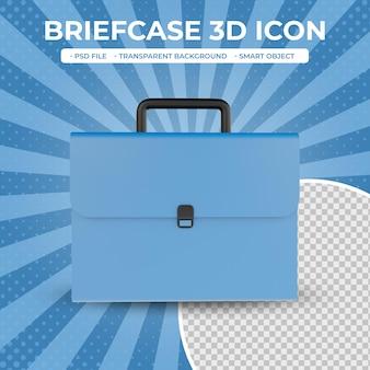 Icône de sac d'affaires de rendu 3d