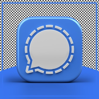 Icône de signal 3d app rendu isolé