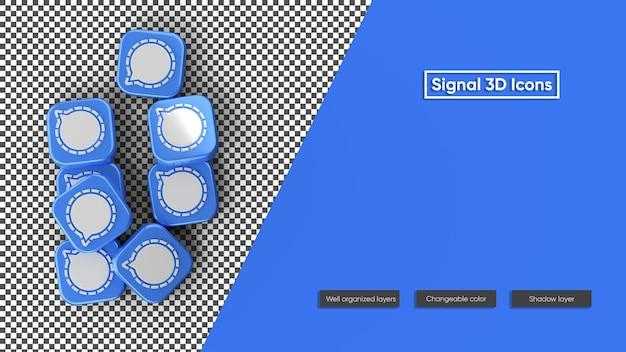 Icône de signal rendu 3d icône isolé
