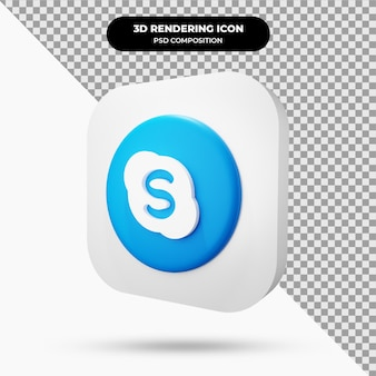 Icône de skype objet 3d
