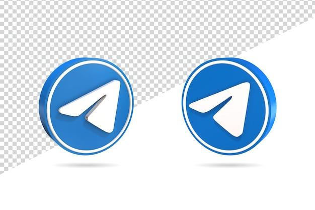 Icône de télégramme 3d design isolé