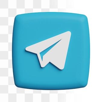 Icône de télégramme 3d