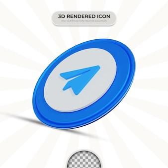 Icône de télégramme de rendu 3d