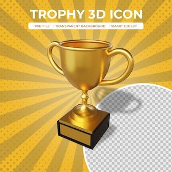 Icône de trophée de rendu 3d