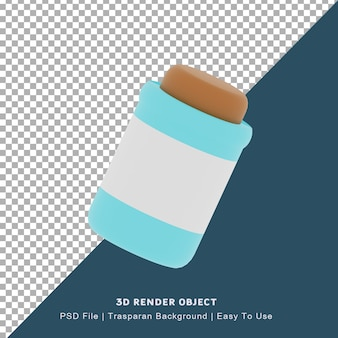 Icône de tube 3d pour les médicaments pharmaceutiques