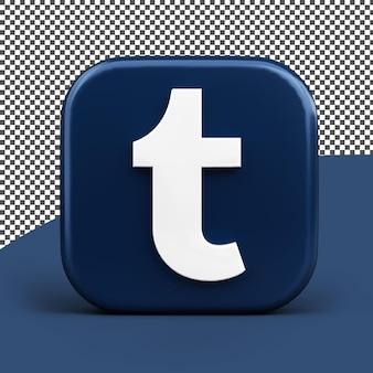 Icône de tumblr rendu 3d icône isolé