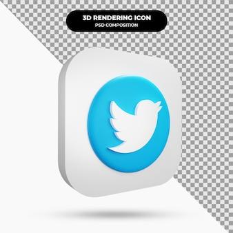 Icône twitter objet 3d