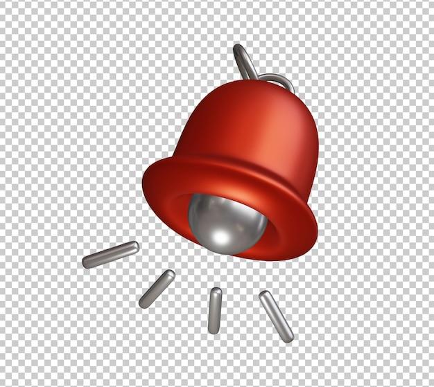 Icône unique de sonnette 3d