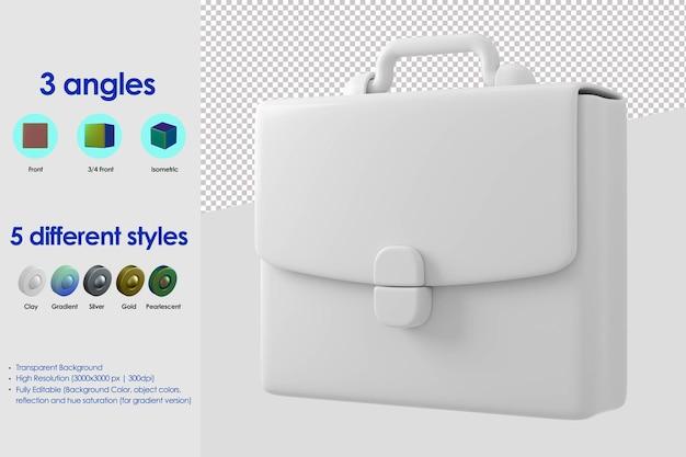 Icône de valise 3d