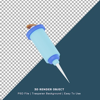 Icône de virus illustration 3d