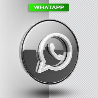 Icône whatapp rendu 3d moderne
