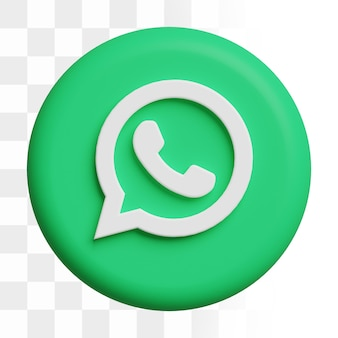 Icône whatsapp 3d