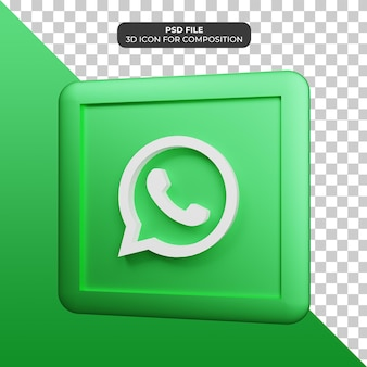 Icône de whatsapp illustration 3d