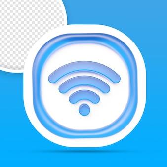 Icône wifi rendu de symbole de réseau sans fil isolé