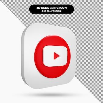 Icône youtube objet 3d