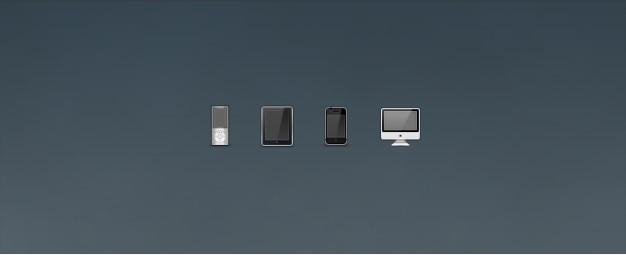 Icônes ipod, iphone, iphone et imac