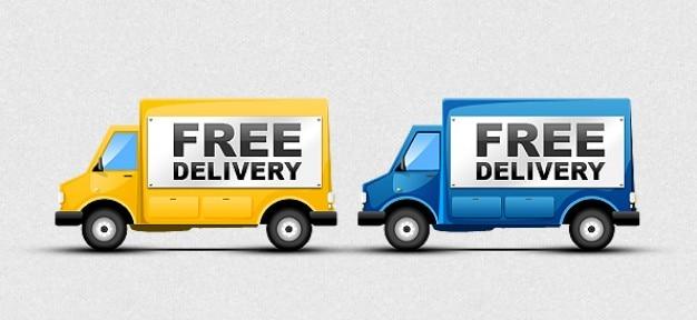 Icônes livraison gratuite