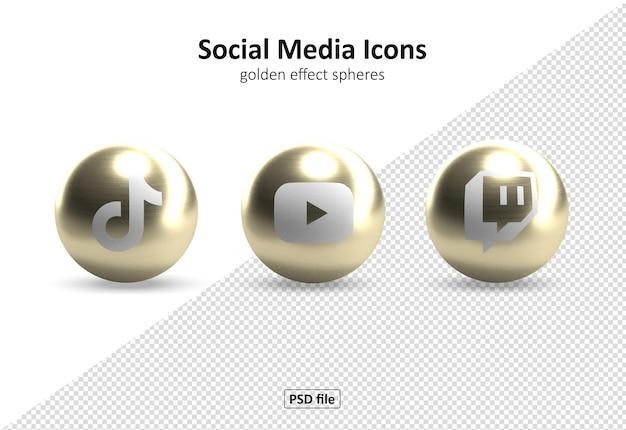 Icônes de médias sociaux pac