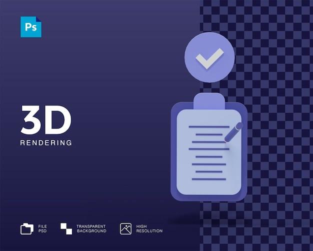 Icônes de note d'écriture 3d