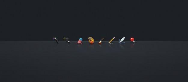 Icônes d'outils de photoshop