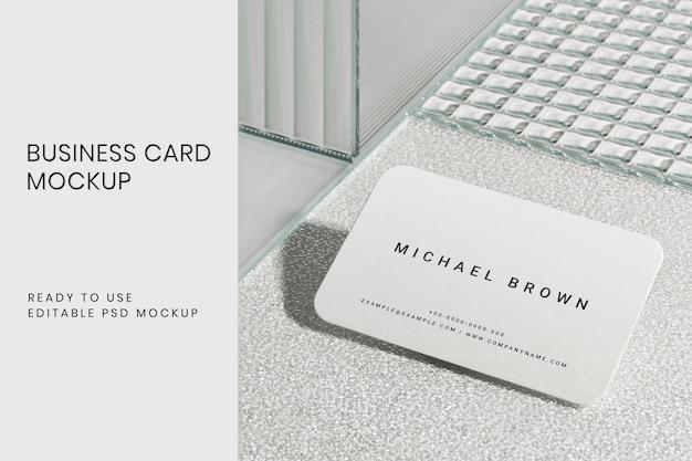 Identité d'entreprise psd de maquette de carte de visite esthétique