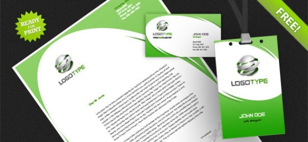 Identité d'entreprise psd paquet