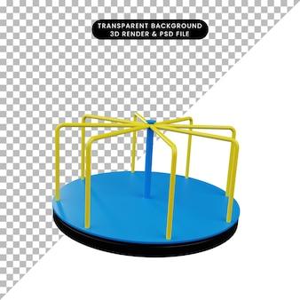 Illustration 3d de l'aire de jeux