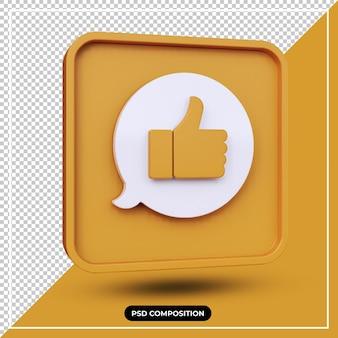 Illustration 3d comme icône de notification