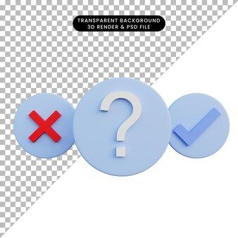 Illustration 3d du choix pop-up