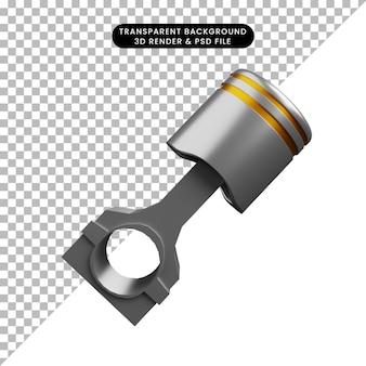 Illustration 3d du piston de trucs de pièces automobiles
