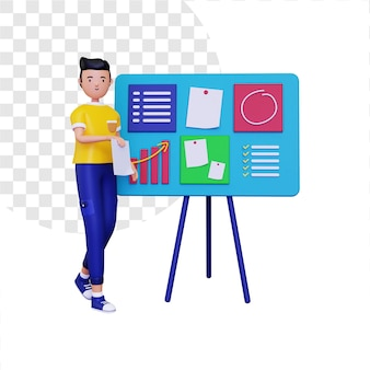 Illustration 3d du projet d'organisation
