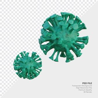 Illustration 3d du virus corona
