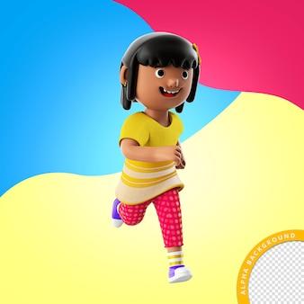 Illustration 3d d'un enfant jouant pour la composition psd de la journée des enfants