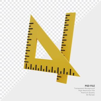 Illustration 3d de l'ensemble de règles