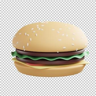 Illustration 3d de hamburger