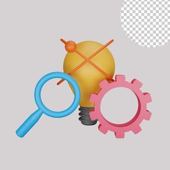 Illustration 3d de l'idée créative