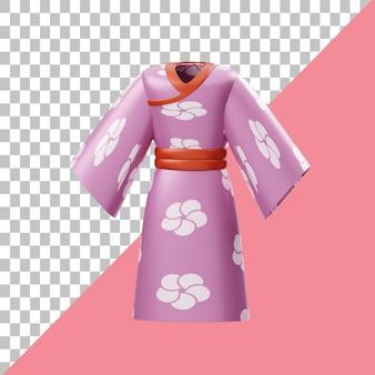 Illustration 3d de kimono