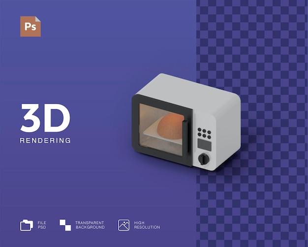 Illustration 3d de micro-ondes