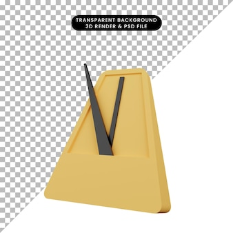 Illustration 3d d'un objet simple