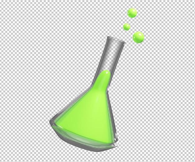 Illustration 3d de potion de chimiste