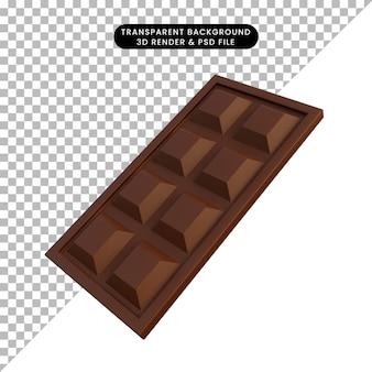 Illustration 3d simple nourriture icône chocolat
