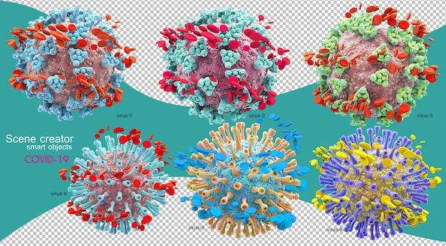 Illustration 3d de la situation du coronavirus