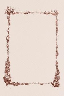 Illustration de cadre or poussiéreux