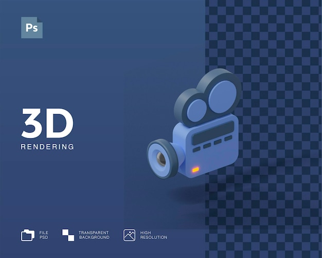 Illustration de la caméra vidéo 3d