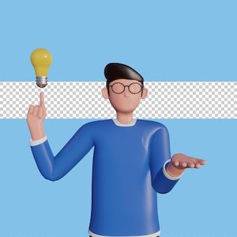 Illustration de caractère idée créative 3d